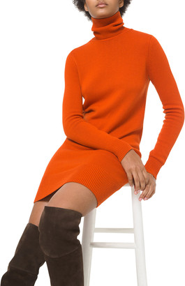 Michael Kors Collection Cashmere Turtleneck Sweater Dress