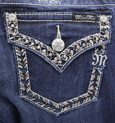 Miss Me Junior's Embroidered Border Flap Pocket Bootcut Jean