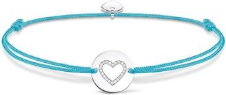 Thomas Sabo Women-Bracelet Little Secrets heart 925 Sterling silver turquoise LS069-401-31-L20v - Prime Day Newness