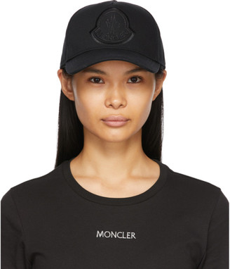 Moncler Black Logo Baseball Cap