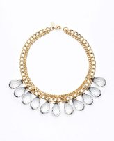 Ann Taylor Faceted Teardrop Statement Necklace