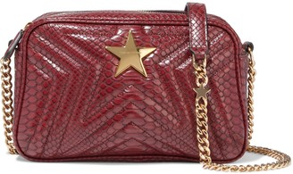 Stella McCartney Stella Star Quilted Faux Snake-effect Leather Shoulder Bag