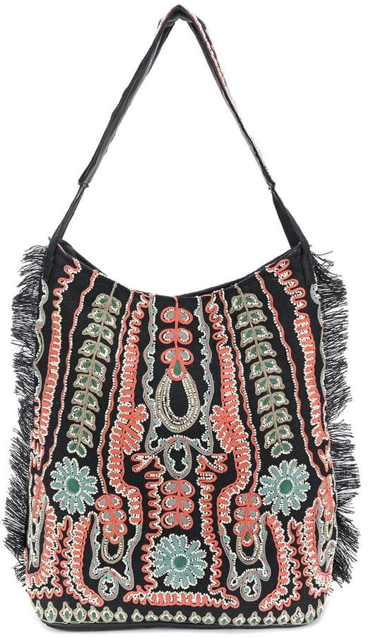 Antik Batik embroidered detail shoulder bag