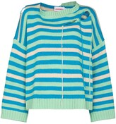 Thumbnail for your product : Charles Jeffrey Loverboy Distressed-Effect Wool-Blend Jumper