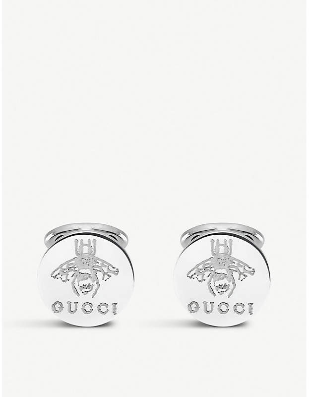 Gucci Trademark sterling silver cufflink earrings