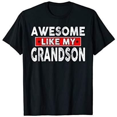 DAY Birger et Mikkelsen Awesome Like My Grandson Shirt Fathers Gift For Grandson