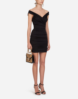 Dolce & Gabbana Short Sleeveless Charmeuse Dress