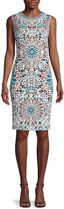 Roberto Cavalli Floral Sheath Dress