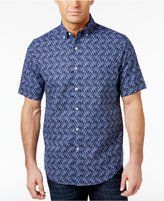 Club Room Men's Coral-Print Shirt, Only at Macy's