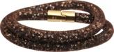 Swarovski Bracelet double Stardust Dorado