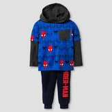 Spiderman Toddler Boy's Pullover Top with Fleece Pant - Blue