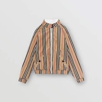 Burberry Childrens Reversible Icon Stripe Cotton Harrington Jacket
