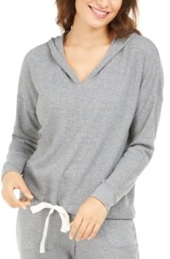 Alfani Women's Thermal V-neck Pajama Hoodie, Created For Macy's