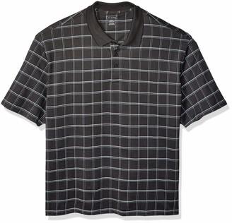 Van Heusen Men's Big & Tall Tall Printed Windowpane Polo Shirt