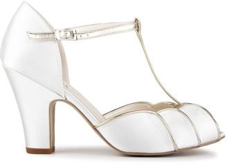 Paradox London Satin 'Chandler' High Heel T-bar Sandals