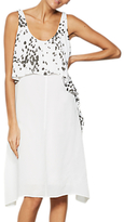 Mint Velvet Sashia Waterfall Layer Cocoon Dress, Multi