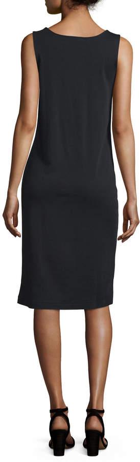Joan Vass Sleeveless Luxe Pima Cotton Tank Dress