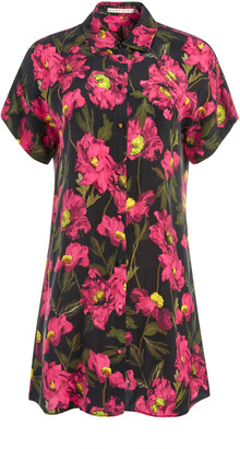 Alice + Olivia Lucette Floral Mini Shirtdress