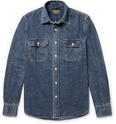 Jean Shop Kevin Slim-fit Denim Shirt - Dark denim