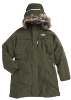 The North Face Girl's Arctic Hooded Down Parka With Removable Faux Fur Trim