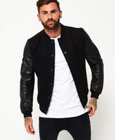 Superdry Varsity Wool Leather Bomber Jacket