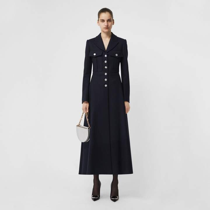 Burberry Melton Wool Tailored Coat
