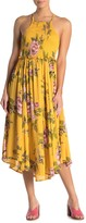 Angie Smocked Bodice Floral Print Maxi Dress