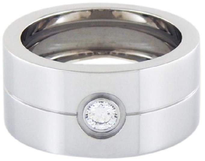 Cartier Double Love 18k Gold Diamond Ring Size 11
