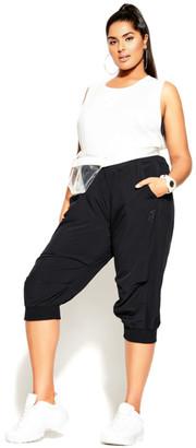 City Chic Active Crop Pant - black