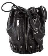 Saint Laurent Python Rider Medium Bucket Bag