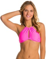 MinkPink Shocking Pink High Neck Bikini Top 8134896