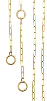 Marla Aaron 3 Loop Square Link Chain Necklace - Yellow Gold