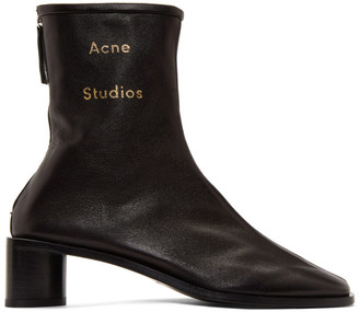Acne Studios Black Branded Heeled Boots