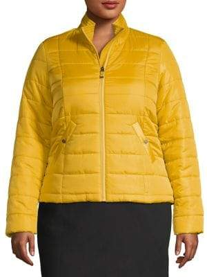 Vero Moda Curve Plus Stand Collar Quilted Jacket