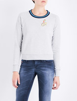 Diesel F-Catrina-B embroidered cotton-jersey sweatshirt