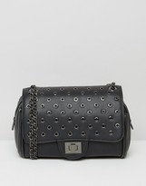 Marc B Knightsbridge Rivet Detail Shoulder Bag