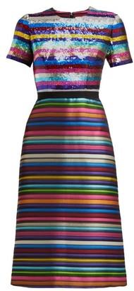 Mary Katrantzou L'amur Sequinned Jacquard Dress - Womens - Multi Stripe