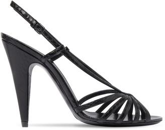 Saint Laurent 95mm Romy Ayer Leather Sandals