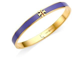 Tory Burch Kira Enamel Logo Hinged Bracelet