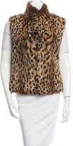 Adrienne Landau Cheetah Print Vest