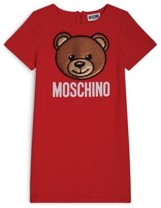 Moschino Kids Sequin Bear T-Shirt Dress (4-14 Years)