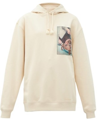 Acne Studios Dog-print Cotton-jersey Hooded Sweatshirt - Ivory