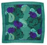 Christian Dior Floral & Paisley Print Silk Scarf