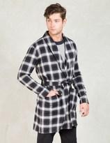 Discovered Black Kilt Collar Robe Shirt Coat