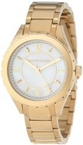 Kenneth Jay Lane Women's KJLANE-2206 Mother-Of-Pearl Dial Gold Ion-Plated Stainless Steel Watch