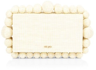 Cult Gaia Eos Beaded Box Clutch