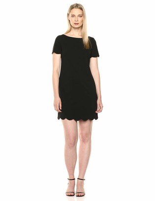 Kasper Women's Stretch Crepe Dress with Bottom Scallop Detail
