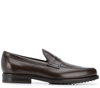 Tod's Low Heel Almond Toe Loafers