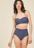 High Dive by ModCloth Mix and Match Moxie Bustier Swimsuit Top in Dots in 4X