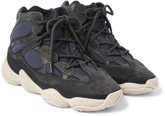 adidas Yeezy High 500 Neoprene, Suede And Leather High-Top Sneakers